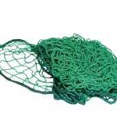 Groen aanhanger aanhangwagen net met elastiek 250 x 140 cm